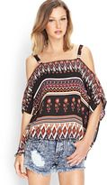 FOREVER 21 Tribal Print Boxy Top
