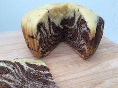 Slow Cooker Zebra-Striped Vanilla and Chocolate Cake