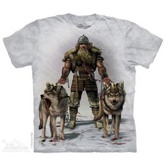 MEN'S T-SHIRT VIKING HUNT MULTICOLOR  STONEWASHED  SIZE LARGE   #TheMountainbrand #GraphicTee