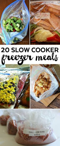 20 slow cooker meals - site has links to each meal