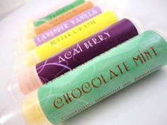 Lip Balm Addicts  You Choose 2 Tubes by SymbolicImports on Etsy, $6.00 #promofrenzy #lip balm #choclate