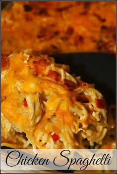 This warm and comforting casserole is adapted from The Pioneer Woman. It is perf… This warm and comforting casserole is adapted from The Pioneer Woman. It is perfect for serving at potlucks and when you have family visiting during the holidays! Casserole Dishes, Casserole Recipes, Crockpot Recipes, Cooking Recipes, Tortilla Casserole, Velveeta Recipes, Noodle Casserole, Chicken Spaghetti Casserole, Chicken Spaghetti Recipes