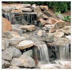 Very detailed instructions on building a waterfall.