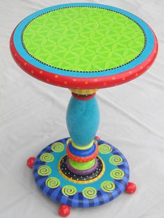 cute painted side table