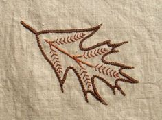 materialistic: Jacobean leaves embroidery pattern
