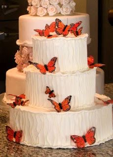 Wedding Cake - something like this would go great with our venue, I like that it's still classy