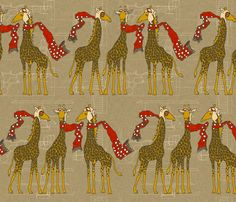 flightschool_safari_red fabric by holli_zollinger on Spoonflower - I love just about all of her fabrics.
