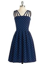 In the Mood for Dots Dress from Modcloth  http://www.modcloth.com/shop/dresses/in-the-mood-for-dots-dress#
