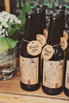 Beautifully Bottled Home Brew Makes Great Bomboniere And What Better Way To Get The Unique Wedding FavorsUnique