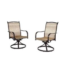 Gentil Hampton Bay Altamira Tropical Motion Patio Dining Chair (2 Pack) DY9976
