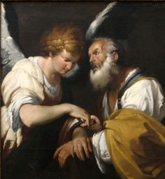The Release of St. Peter', oil on canvas painting by Bernardo Strozzi, c. 1635,