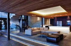 Home Design, The Cove A Dream House in South Africa by SAOTA and Antoni Associates: Cove 3 Interior Living Room Design Modern Contemporary Homes, Modern Room, Living Room Sofa Design, Portable House, Elegant Living Room, Minimalist Decor, Interior Architecture, Home And Family, Family Room