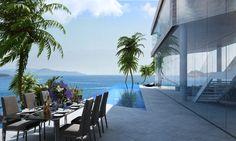Breathtaking Luxury Resort Villas Located in the Aegean Sea