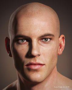 Male Head by Andor Kollar | Realistic | 3D | CGSociety