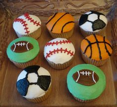 Sports more cupcake ideas for E's b-day