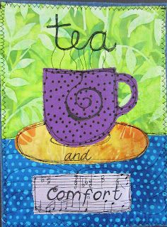 The Prayer Flag Project: Tea and Comfort ... I love these prayer flags and need to make me some!