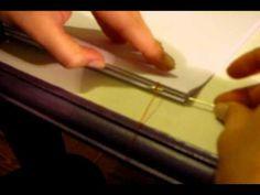 costura de cuadernillos. encadenado