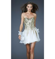 $398.00 LaFemme Short Dress at http://viktoriasdresses.com/ Through John's Tailors