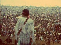 Jimi Hendrix in Woodstock, 1969