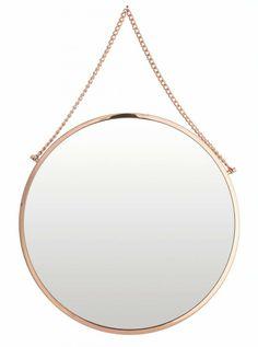 Housedoctor Spiegel koper metaal/glas Ø38cm, Mirror Bolina copper finish