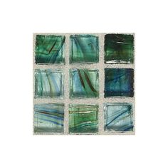 American Olean�13-in x 13-in Visionaire Peaceful Sea Glass Mosaic Square Wall Tile (Actuals 13-in x 13-in)