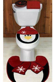 pinguino en el baño