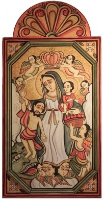 nicolasotero.com Religious Icons, Religious Art, New Mexico Style, Sacred Feminine, Spanish Colonial, Mexican Folk Art, Blessed Mother, Mother Mary, Whimsical Art