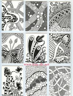 zentangle inspired art (could use this idea to create a pattern - Zentangle - More doodle ideas - Zentangle - doodle - doodling - zentangle patterns. zentangle inspired - - Crafts Are Fun Tangle Doodle, Tangle Art, Zen Doodle, Doodle Art, Zentangle Drawings, Doodles Zentangles, Doodle Drawings, Easy Zentangle, Doodle Patterns