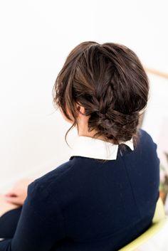 Reverse crown braid in 15 minutes (hair tutorial) #hair