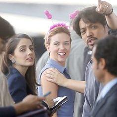 Scarlett Johansson films new movie in a naughty novelty headband  (312559)
