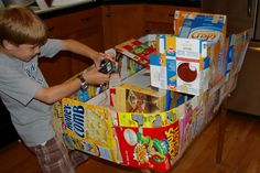 "cereal boxes...don't throw them away, recycle and reuse. Allow kids to ""just"" create!"