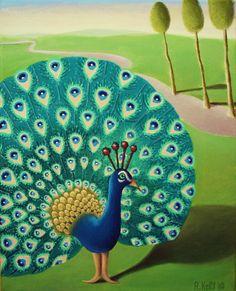 'Peacock' by Antoinette Kelly 2009. www.saatchiart.com/A.Kelly