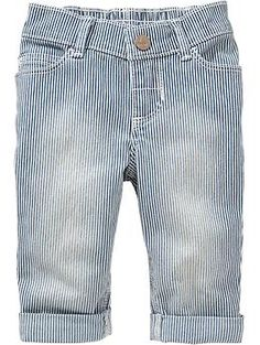 Striped Jeans for Baby, Okay these are adorable i bet i can find something like this only less expensive and made better at Oshkosh