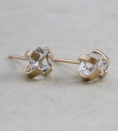 Herkimer Diamond Stud Earrings by Elaine B Jewelry on Scoutmob Shoppe