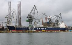 Chemical tanker Assos in dry dock SDI Photo: J. Staluszka