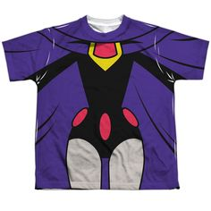 Behold the Teen Titans Go! - Raven Uniform Sublimated Youth T-Shirt. Now you can be part of the hype with this dye sublimated, officially licensed sublimated youth t-shirt made of 100% polyester. This