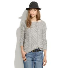Madewell - Boatneck Cableknit Sweater