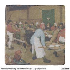 Peasant Wedding by Pieter Bruegel the Elder Stone Coaster