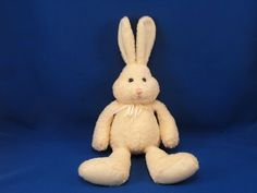 New product 'GUND Heads and Tales Yellow Rabbit White Feet Upright Ears' added to Dirty Butter Plush Animal Shoppe! - $6.00 - GUND HEADS and TALES Plush 16 inch, including Upright Ears Yellow Chenille Rabbit - White Velour Feet, Upright Ears - Th…