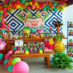 Hawaiian Birthday, Flamingo Birthday, Luau Birthday, Flamingo Party, Luau Party, Baby Party, Luau Baby Showers, Water Party, Kids Party Themes