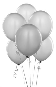 Metallic Silver 12 Inch Pearlescent Thickened Latex Balloons, Pack of Pearlized Premium Helium Quality for Wedding Bridal Baby Shower Birthday Party Decorations Supplies Ballon Baloon Thinken Round Balloons, White Balloons, Latex Balloons, Birthday Party Decorations, Birthday Parties, Themed Parties, Birthday Ideas, Table Decorations, Kids Party Supplies