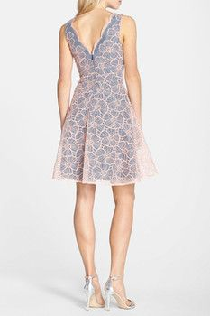 ERIN erin fetherston Vanessa Embroidered Organza Fit & Flare Dress