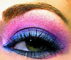 funky bright eyeshadow from coastal scents by Courtney Rhodes, via Flickr