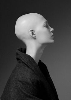 Shaved Bald People — takca: yana dobrolyubova by nick sushkevich Old Portraits, Bald Girl, People Poses, Bald Women, Hair Tattoos, Shaved Head, Hair Dye Colors, Tumblr, Different Hairstyles