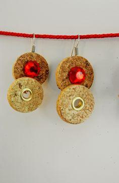 Marketing Vinícola Pendientes hechos con corchos de vino: Wine Cork Crafts