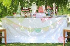 Shabby Sweet Ruffled Tablecloth