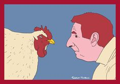 Chicken and Man by Federico Monzani