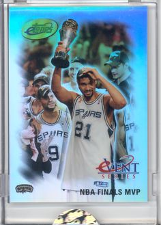 2005 ETOPPS IN HAND TIM DUNCAN SAN ANTONIO SPURS NBA FINALS MVP 2005 CHAMPION