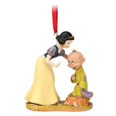Snow white and Dopey Disney Ornament. Would love to find this! It matches my watch!