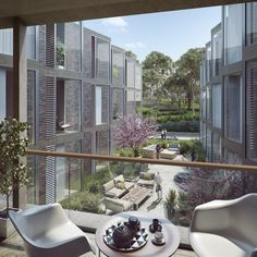 Architectural rendering for the Aged Care Village St Hedwig en Sydney, Australia designed by Rudolfsson Alliker associates architects. Aged Care, Hedwig, Saints, Patio, Architecture, Building, Outdoor Decor, Room, Sydney Australia